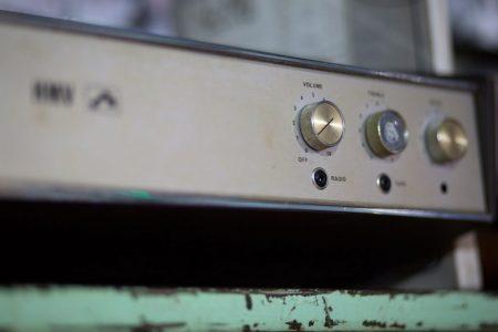 Vintage music kit at WaterBear HQ, Brighton
