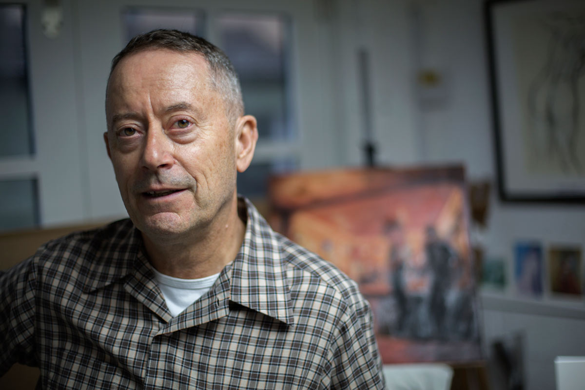 John Whiting, artist at 35 Gallery North. Interview with Brighton Source Ashley Laurence