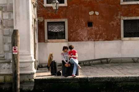 Young couple in Venice, travel photo Ashley Laurence, Time for Heroes photography