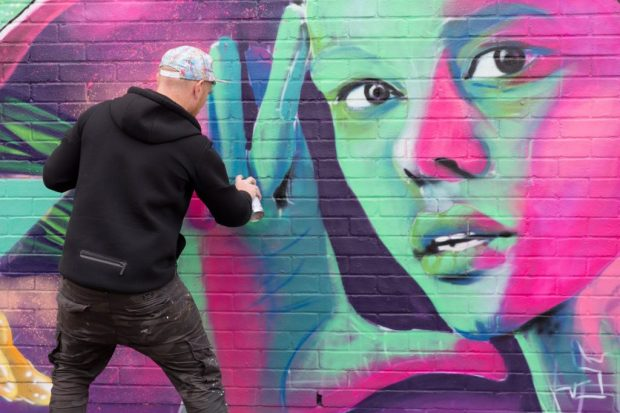 Micky Street Art---Brighton---Time-for-Heroes-Photography