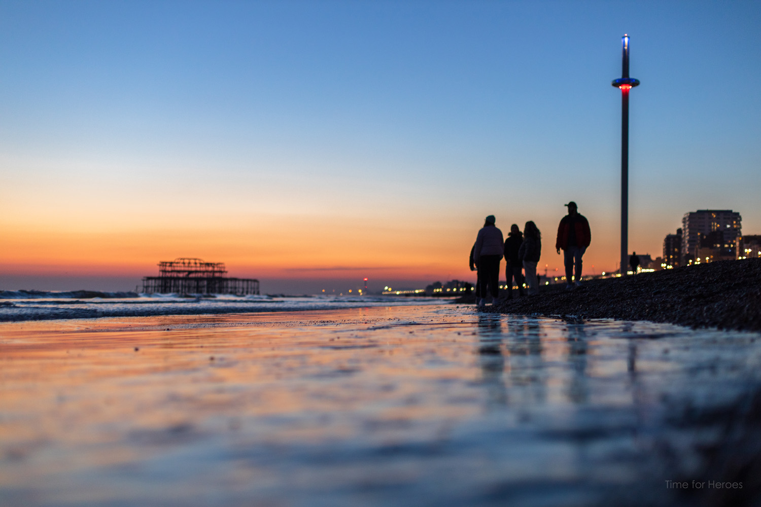 Saharan Seafront sunset 2 - Brighton - Ashley Laurence - Time for Heroes Photography
